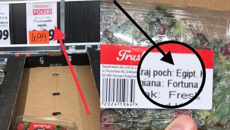 Oznaczenie PRODUKT POLSKI straci swoją wartość, jeżeli markety będą nim promowały importowane owoce