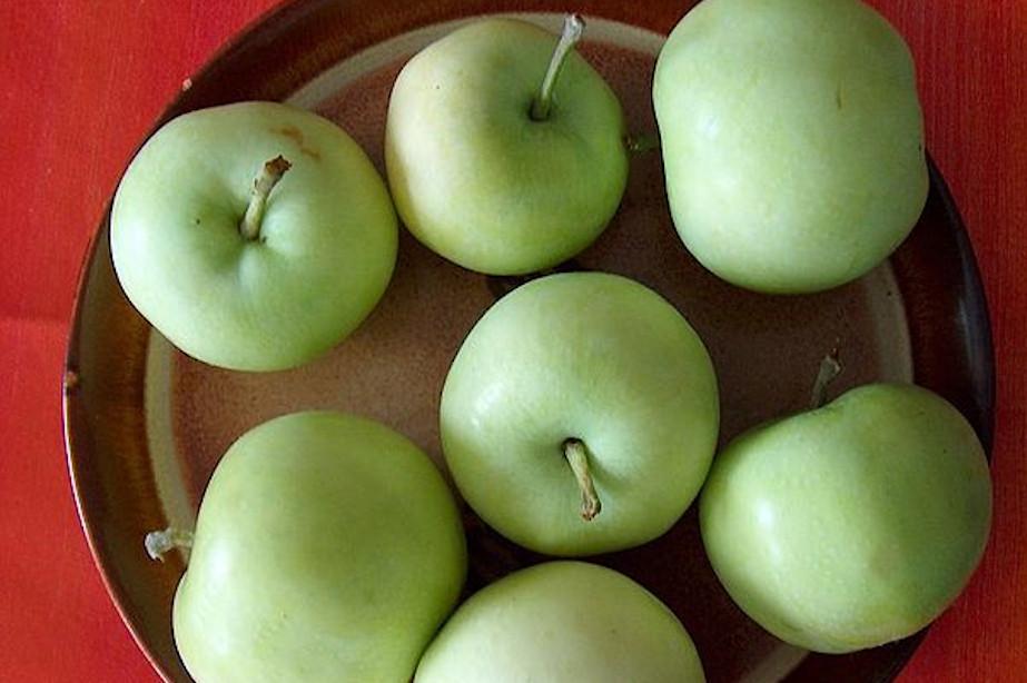 Jabłka odmiany Oliwka Inflancka